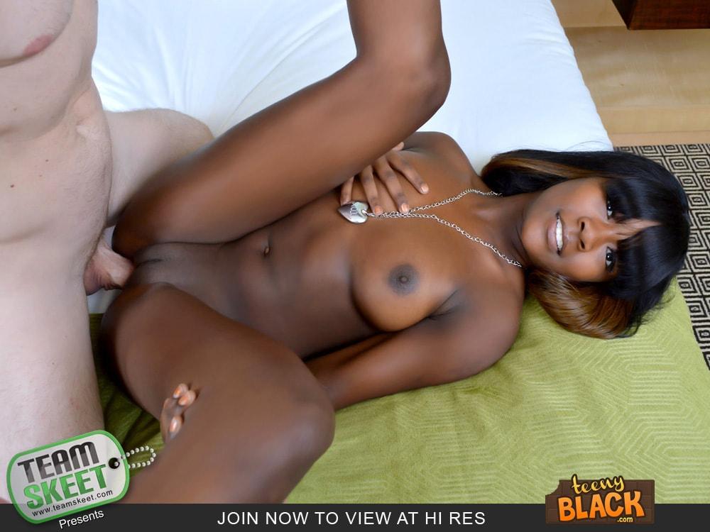 Skinny black teen
